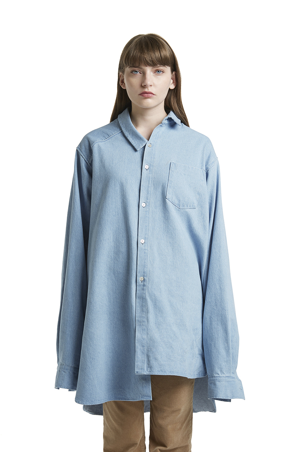 Denim Assymetric Shirt