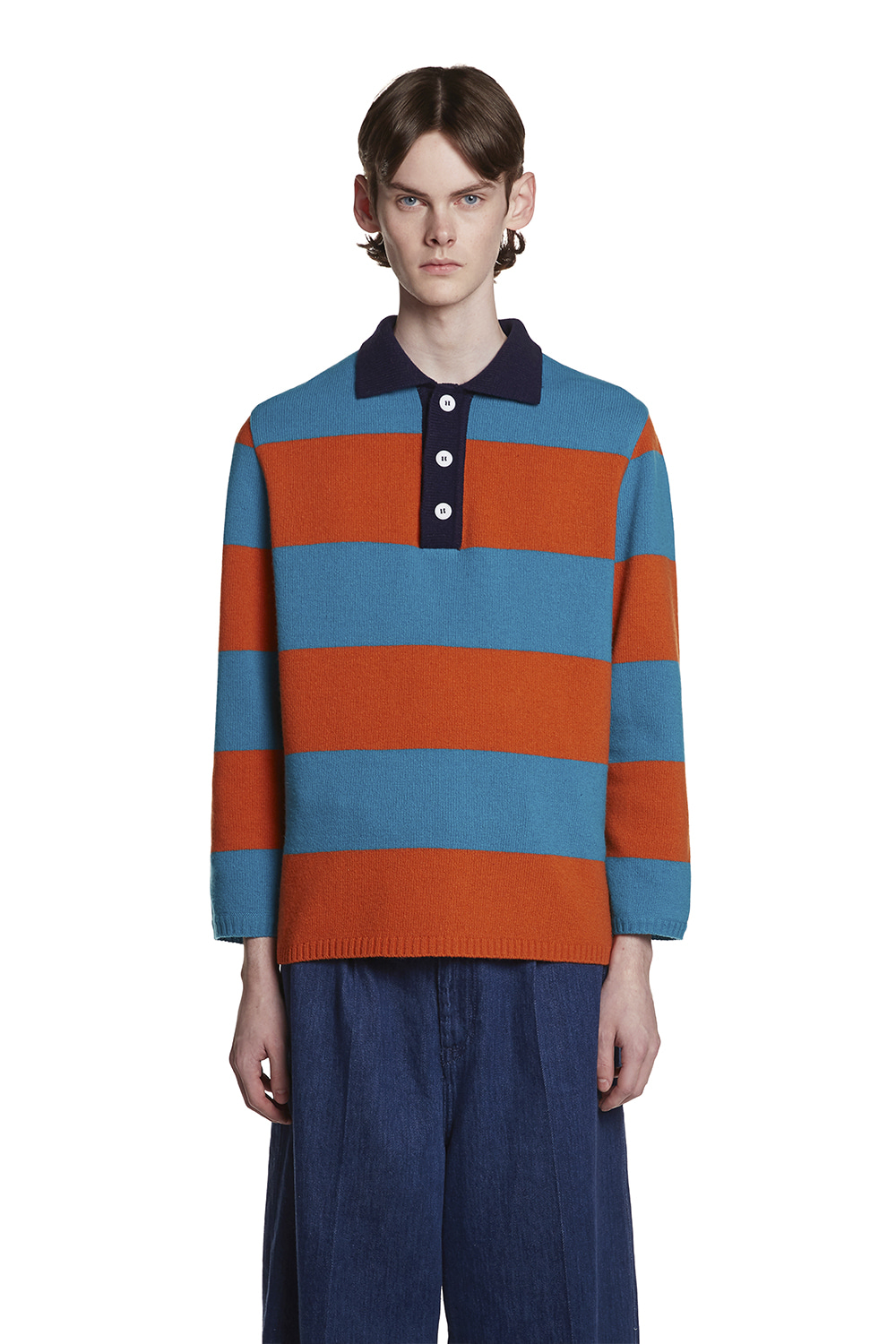 Stripe Knit PK Shirt