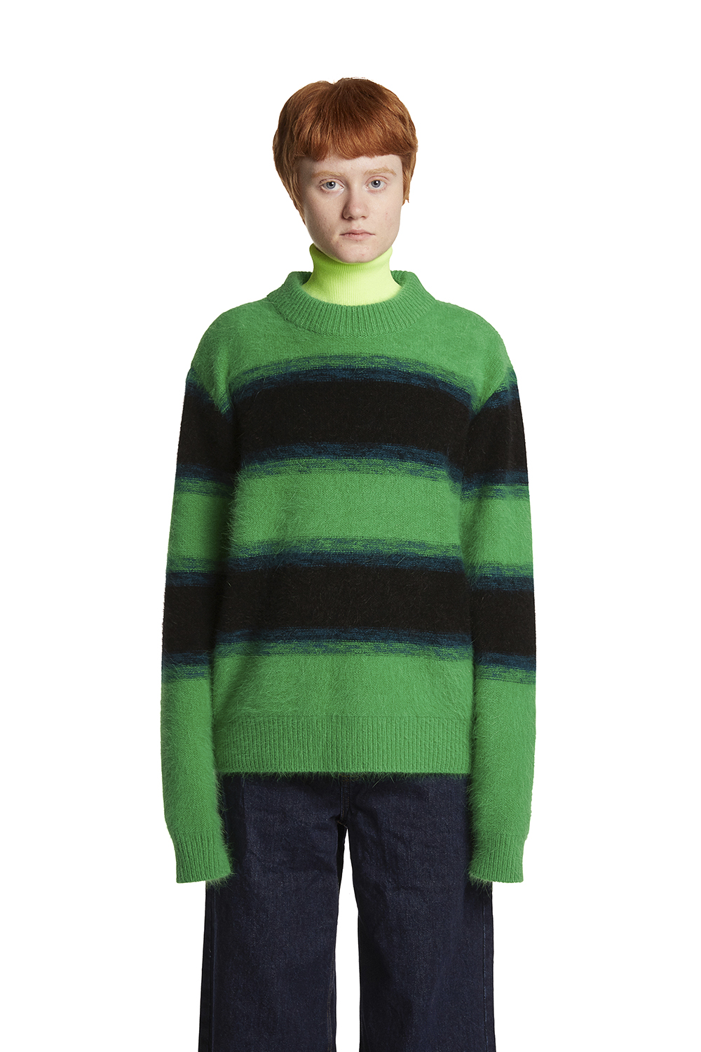 Angora Stripe Sweater