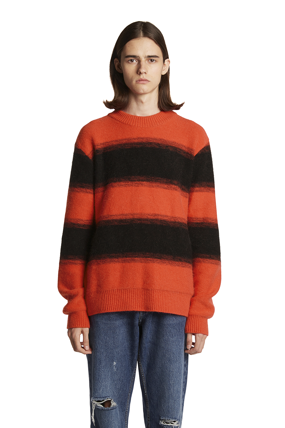 (SAMPLE) Angora Stripe Sweater