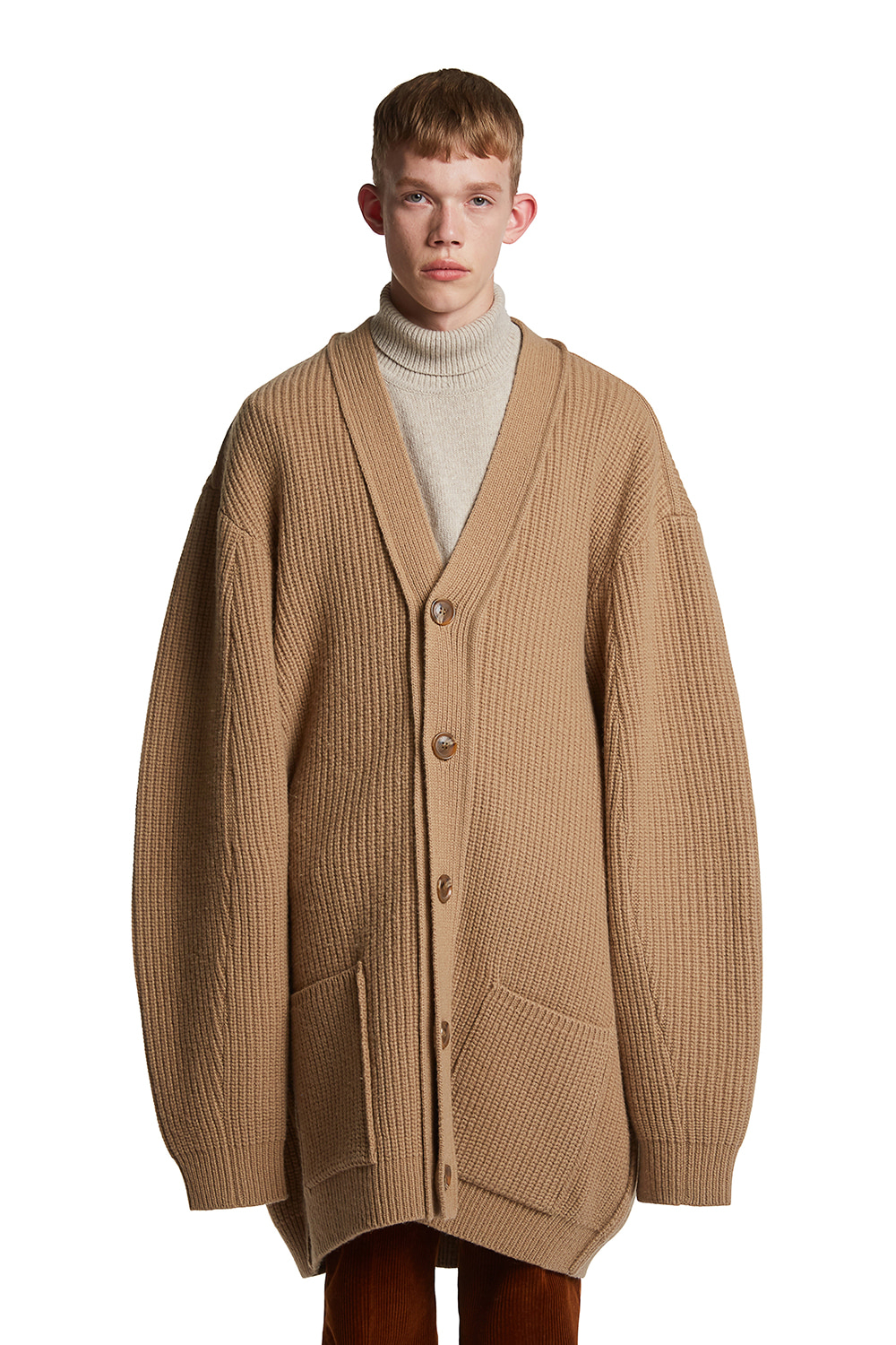 (SAMPLE) Oversized Wool Cardi-Coat