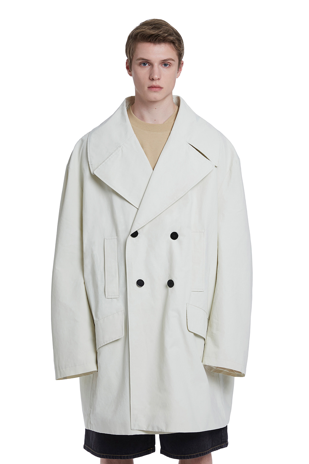 Two Button Oversize Trench Coat