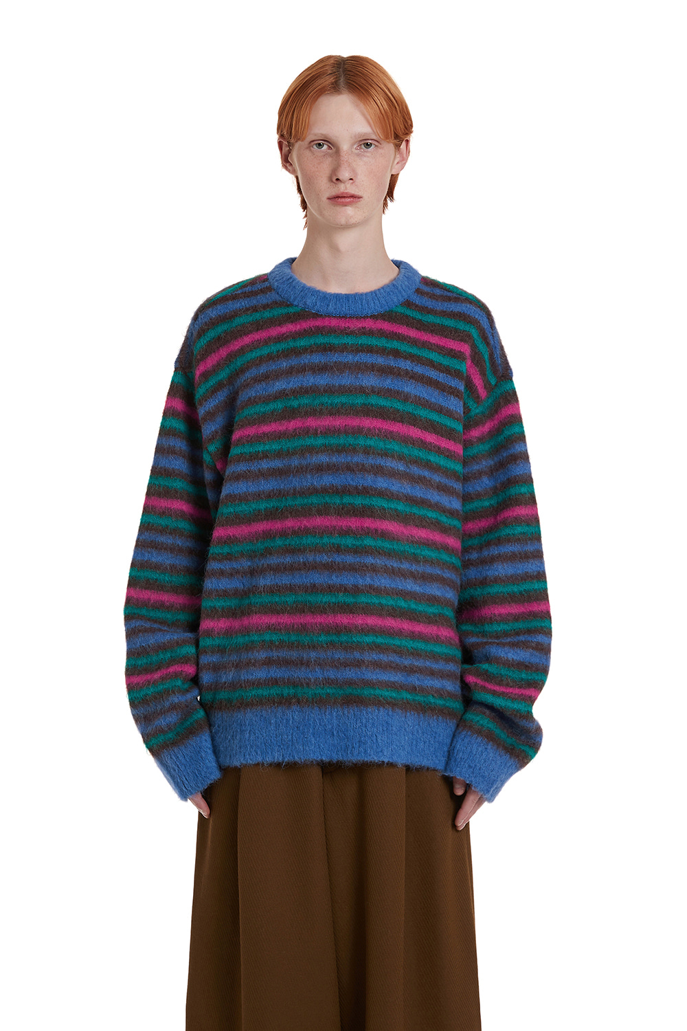 Alpaca Stripe Knit Sweater