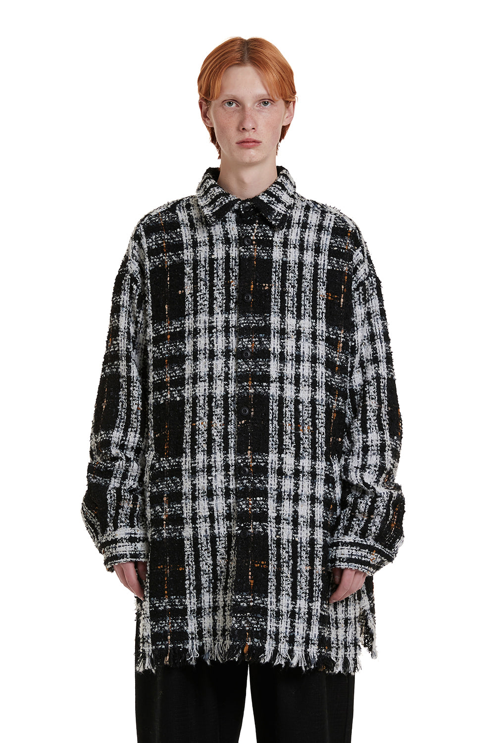 Tweed Check Shirt Coat