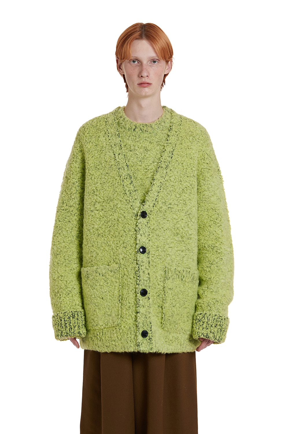 Two tone Boucle Cardigan Jacket
