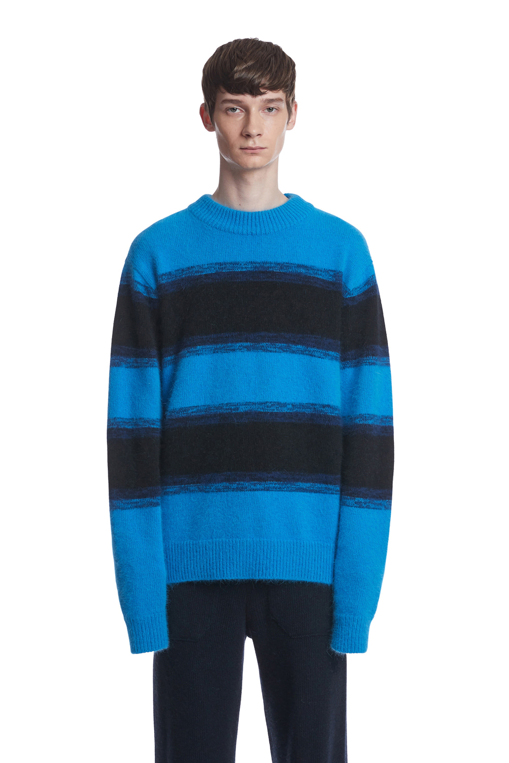 10월 9일 예약배송  Angora Stripe Knit Sweater