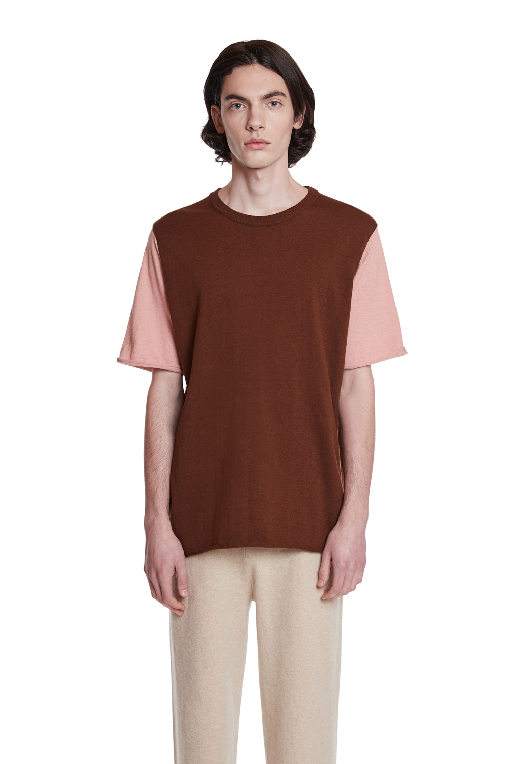 Cashmere Colorblocked T-Shirt
